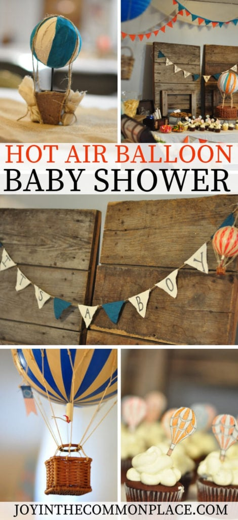 Vintage Hot Air Balloon Baby Shower