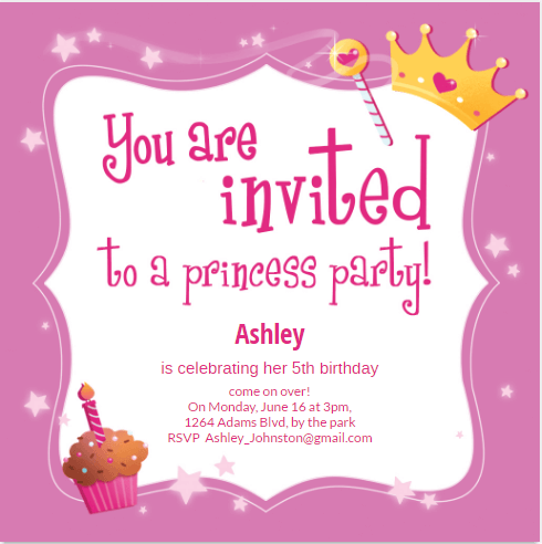 Princess Birthday Party- Greetings Island