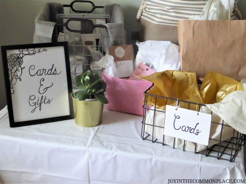 Cards & Gifts Table