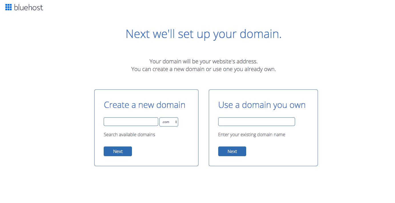 (3) Set up domain