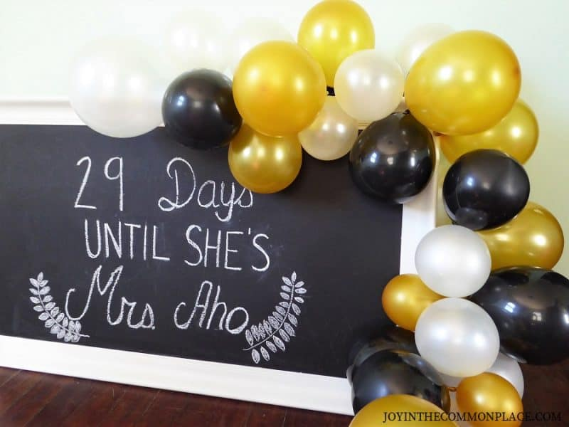 Black & Gold balloon garland