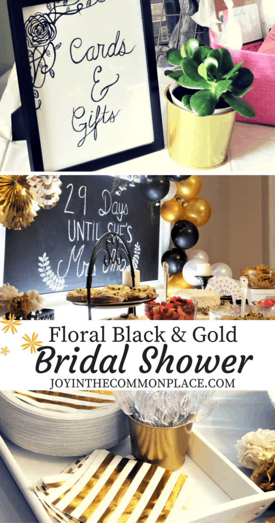 Floral Black & Gold Bridal Shower