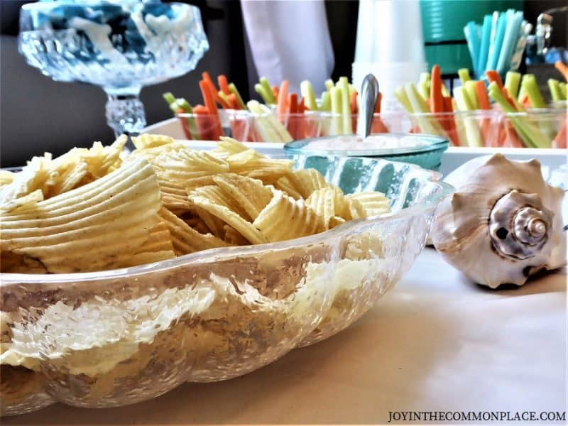 Sea shell chip bowl- Mermaid party