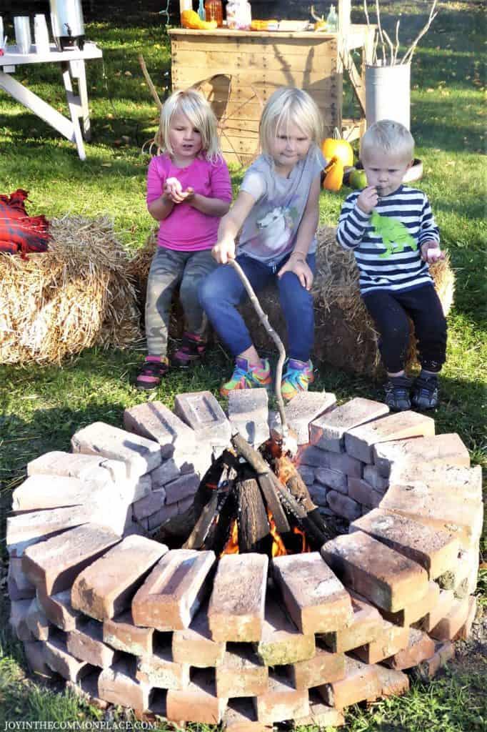 Kid's Roasting Marshmallows Harvest Party