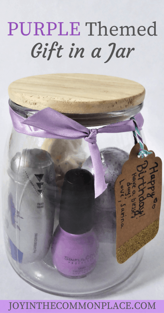 Purple Themed Gift in a Jar