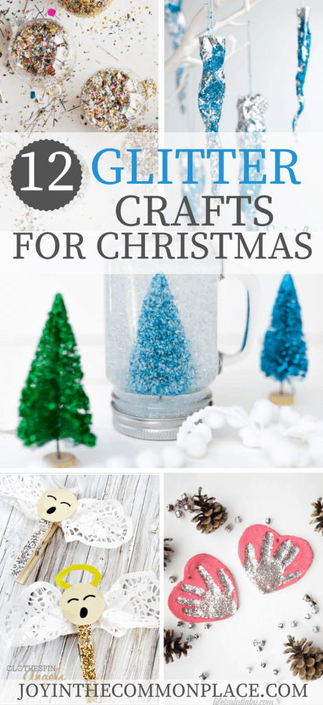 12 Glitter Crafts for Christmas