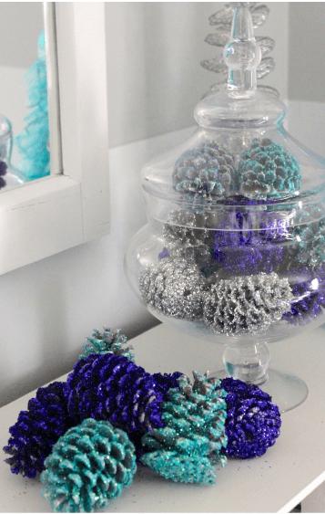 DIY Glittered Pine Cones
