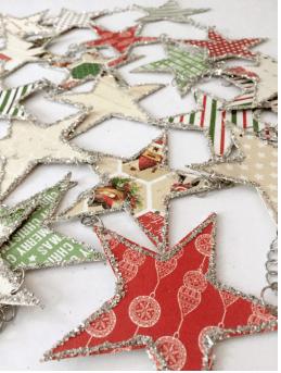 Glittery Star Christmas Garland