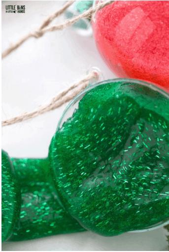 Tinsel Glitter Christmas Slime