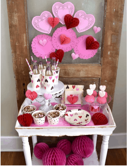 An Easy Valentine Snack Table