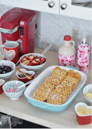 Valentine's Day DIY Waffle Bar