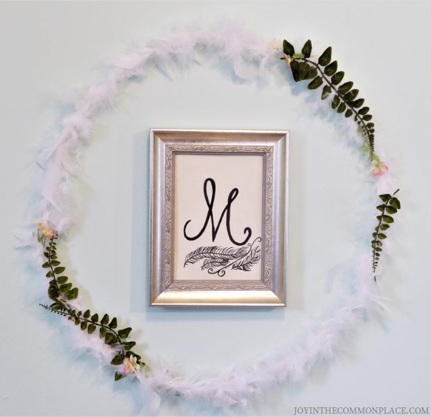 Feather Wreath- Swan First Birthday