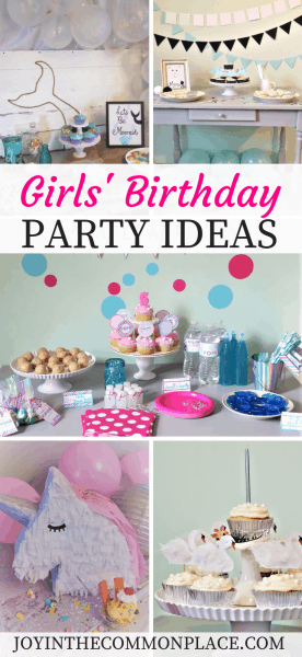 Girls' Birthday Party Ideas