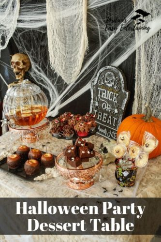 Halloween Party Dessetr Table by Jordan's Easy Entertaining