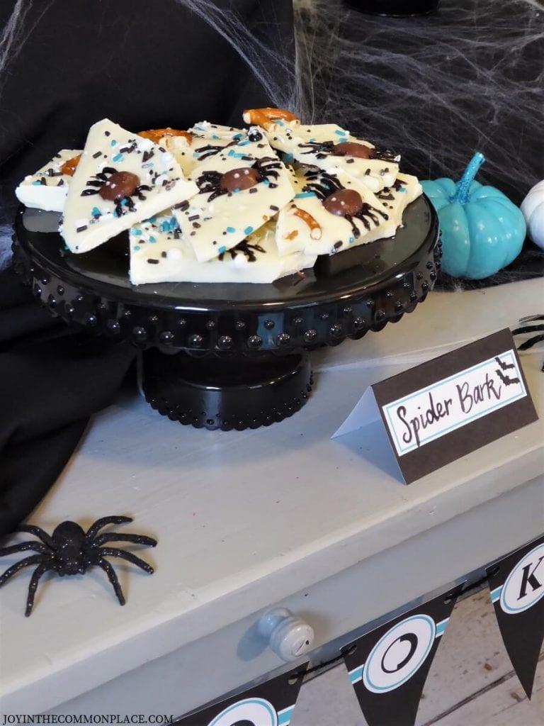 Halloween Spider Almond Bark