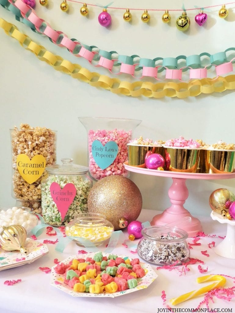 Host a Whoville Themed Movie Night and Popcorn Bar