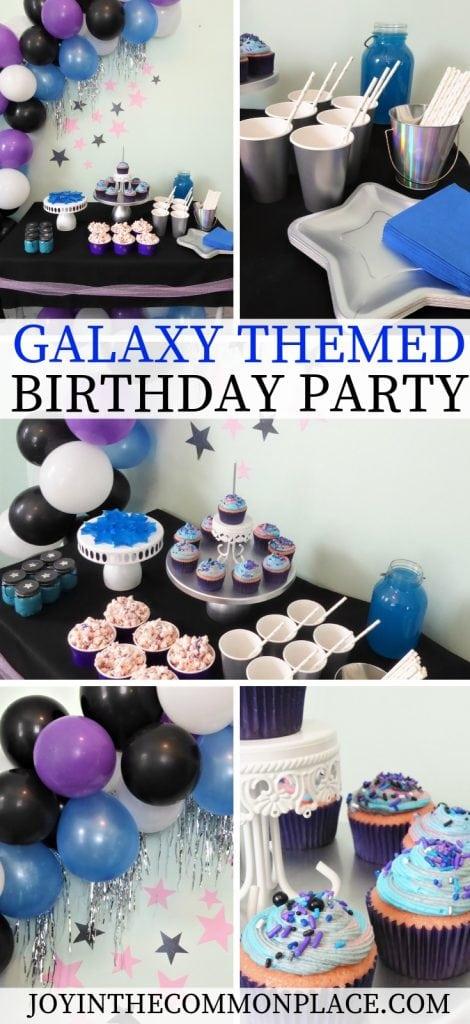 Galaxy Themed Birthday Party