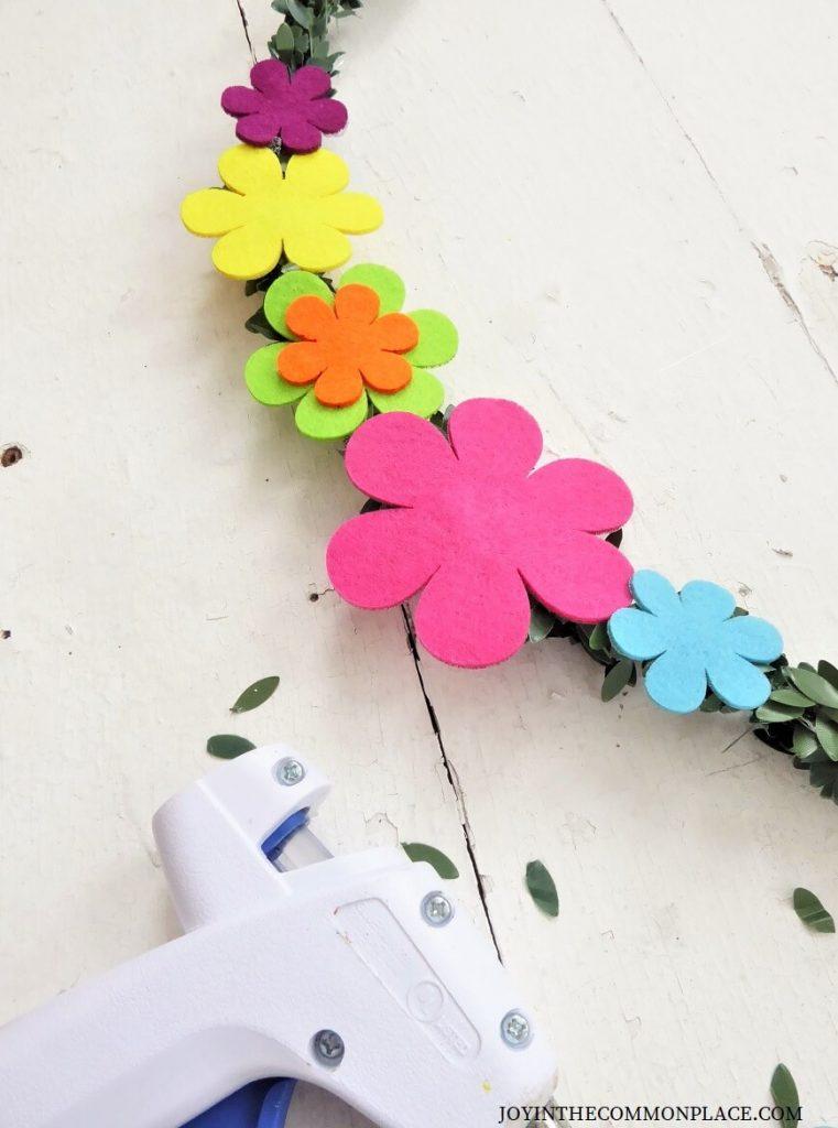 DIY Floral Wreath Backdrop