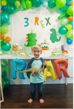 It's Roaring 3-rex Dinosaur Party