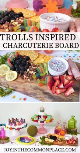 Trolls Inspired Charcuterie Board