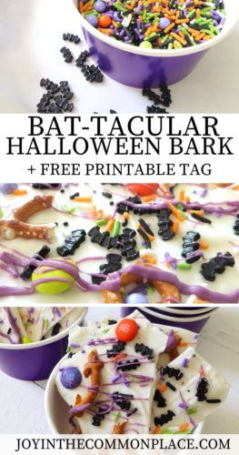Bat-tacular Halloween Chocolate Bark