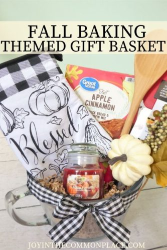 DIY Fall Baking Themed Gift Basket