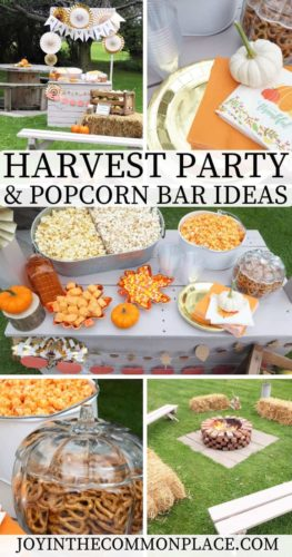 Harvest Party and Popcorn Bar Ideas