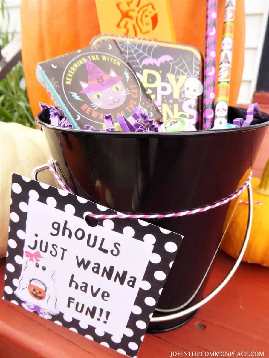 Halloween Gift Buckets for Girls