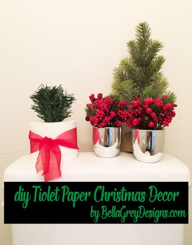 {DIY TUTORIAL] Christmas Guest Bath Decor designed by BellaGrey Designs 006