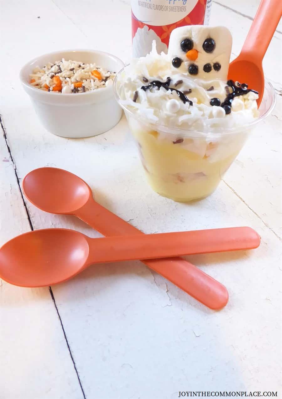 Melted Snowman Mini Trifle Recipe