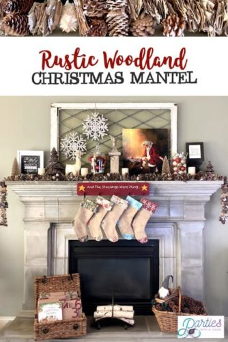 Rustic-woodland-christmas-mantel-ideas-partieswithacause.com-Holiday-decor