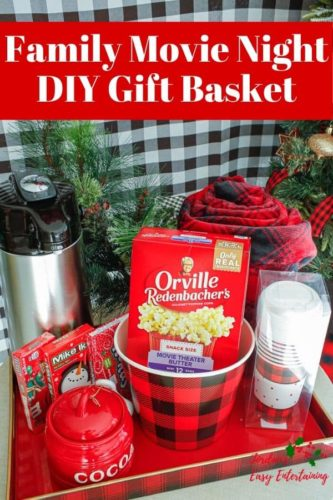 family movie night diy gift basket