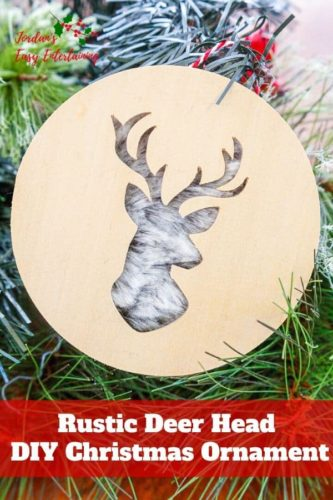 rustic deer head diy christmas ornament cricut christmas crafts