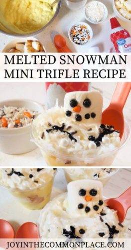 Melted Snowman Mini Trifle Recipe
